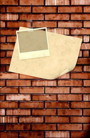 Grunge background with photos  photo