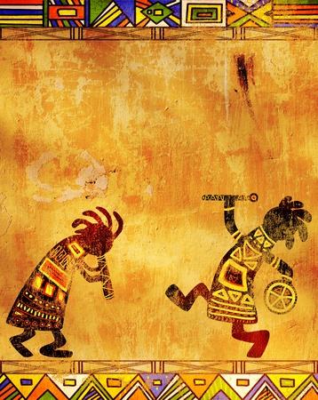 aborigen: Bailes de m�sicos. Patrones tradicionales africanos