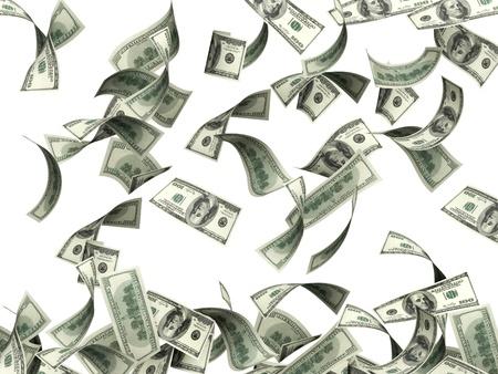 dinero volando: S�mbolo de riqueza y �xito - lluvia de euro Foto de archivo