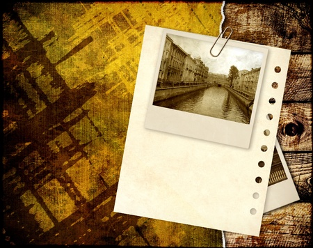 Grunge background with old photos Stock Photo - 9589257