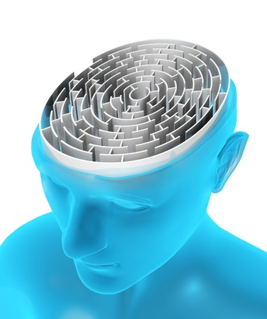 brain mysteries: Brain in the form of the maze