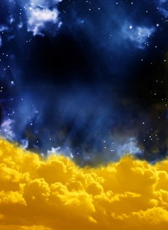 A beautiful space scene with stars and nebula Stock Photo - 9589379