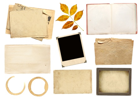 scrapbooking: Collection elements for scrapbooking. Objects isolated over white