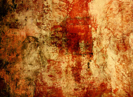 ochre: Grunge background - texture stucco of ochre color Stock Photo