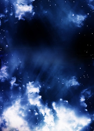 A beautiful space scene with stars and nebula Stock Photo - 9744882