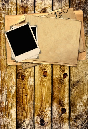 Grunge background with old photos Stock Photo - 9744935
