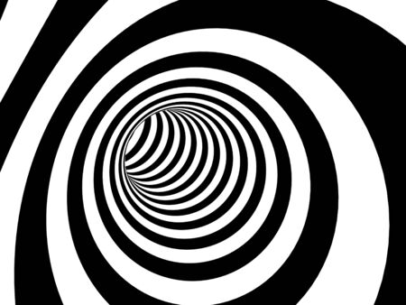 black hole: Abstract illusion. Black and white