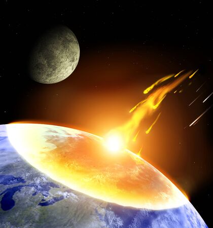 apocalyptic: Global accident - collision of an asteroid with the Earth