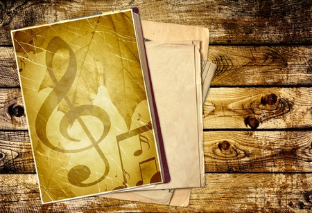 Grunge background with old diary photo