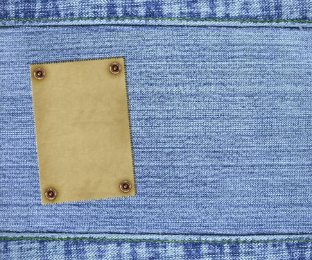 Background - texture jeans of  blue color photo