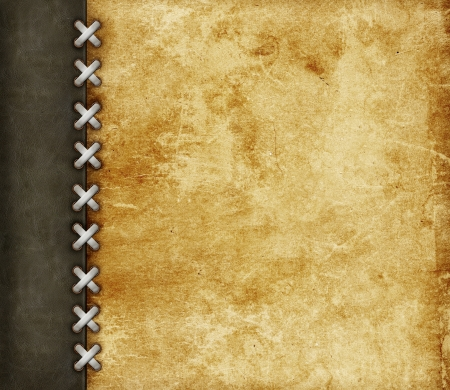 scrapbook cover: Leather grunge background for scrapbooking