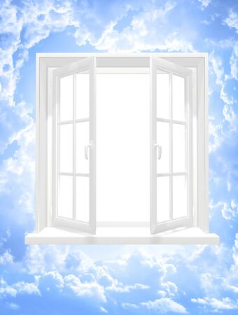 Conceptual image - window in sky photo