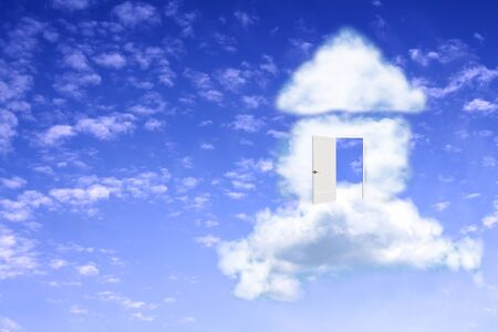 cloud formations: Conceptual image - dream of own house