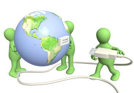 Conceptual 3d image - global communication Stock Photo - 10559997