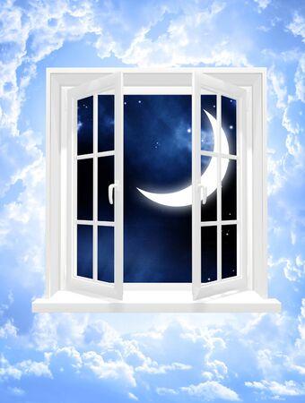 Conceptual image - window in sky photo