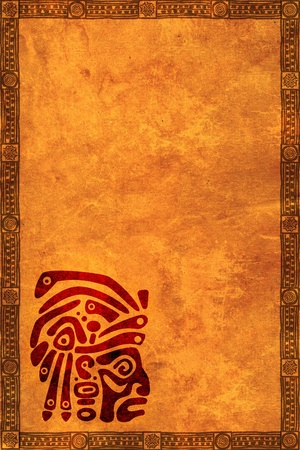 Background with American Indian traditional patterns photo