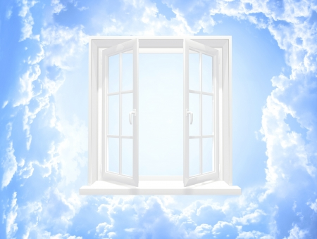 Image of sky: Conceptual image - window in sky