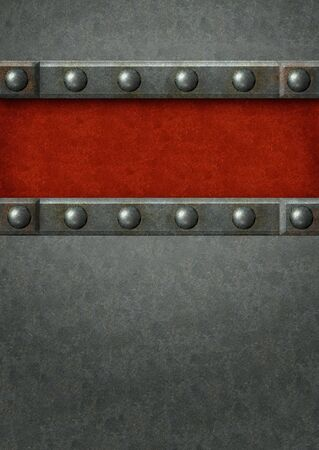 Grunge background with metal plates and rivets Stock Photo - 10936229