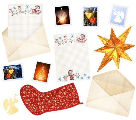 Letter to Santa Claus. Collection of elements for design photo