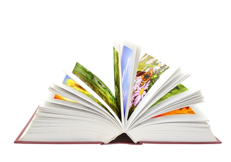 literary: Book of nature. Isolated over white Stock Photo