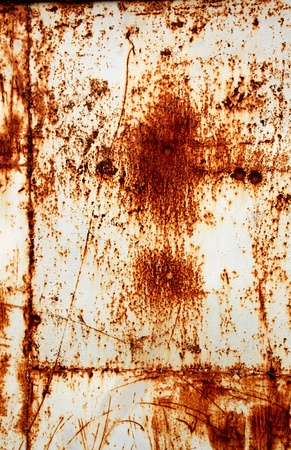 flaky: Grunge background - rusty metal texture