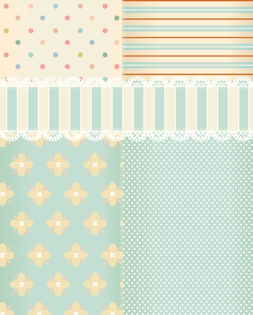 スクラップブッキング: ぼろぼろの上品のスタイルでのベクトルの背景  イラスト・ベクター素材