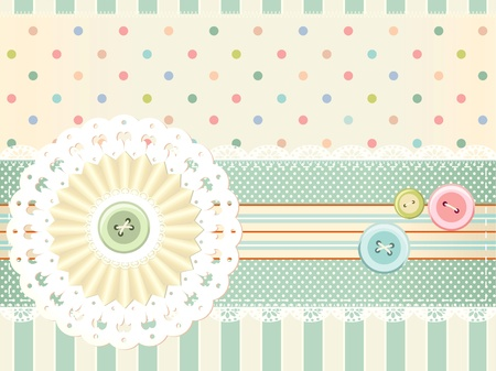 tailored: background in shabby chic style  Illustration