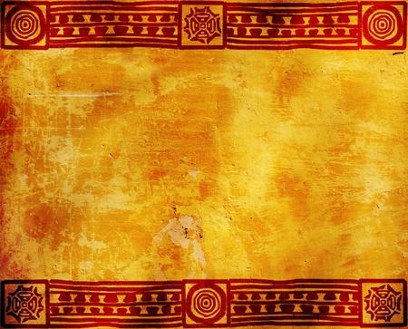 cultura maya: Fondo horizontal con American patrones tradicionales de la India Foto de archivo