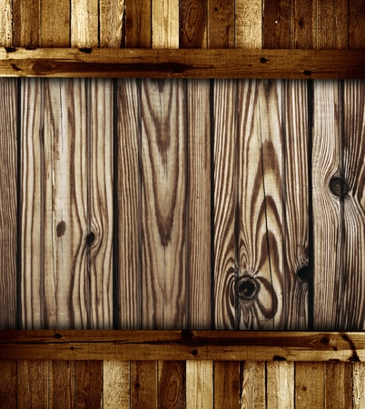 Texture - old wooden boards of brown color photo