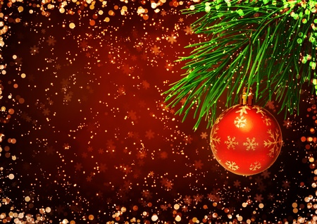 Horizontal background with christmas ornament photo