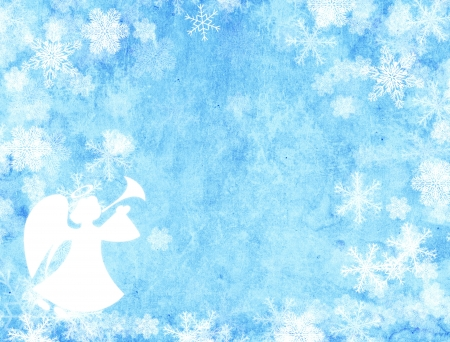 Christmas grunge background with angel photo