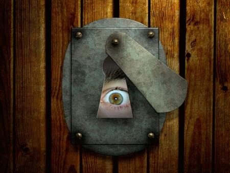 globo ocular: Dark series - una mirada desde la oscuridad Foto de archivo