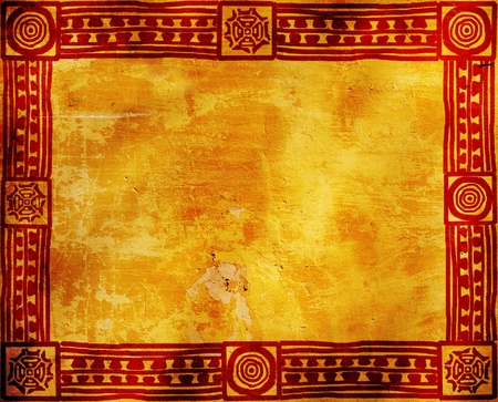 indian art: Grunge background with American Indian traditional patterns