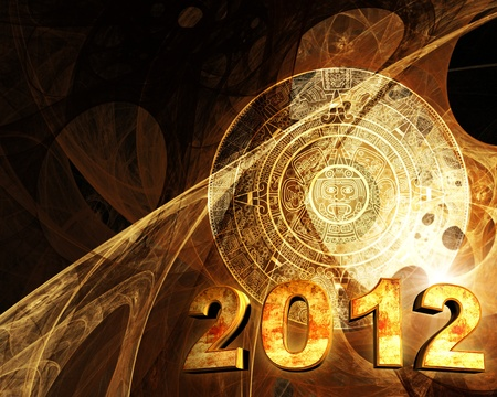 2012. Maya prophecy. Horizontal background with Maya calendar Stock Photo - 11541553