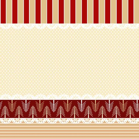 Vector Christmas background in shabby chic style  Vector
