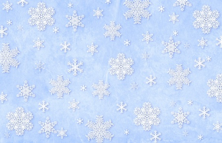 Christmas grunge background with snowflakes photo