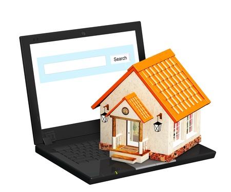 housing search: Conceptual 3d image - home Internet