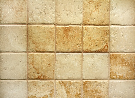 stoneware: Texture of tiles brown color Stock Photo