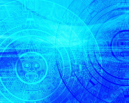 prophecy: Maya prophecy. Background of blue color