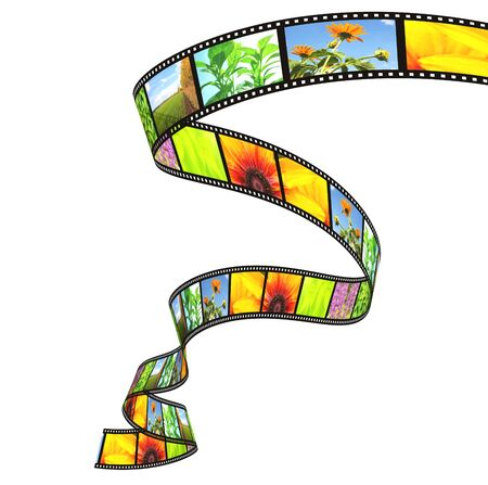 photographic: 3d filmstrip. Object isolated over white Stock Photo