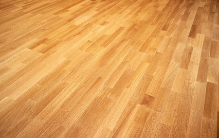 parkett: New oak parquet of brown color