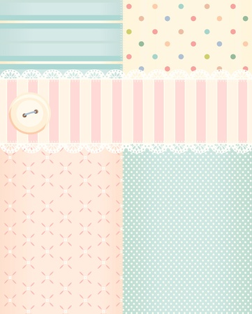 Illustration background in shabby chic style  Vector