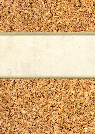 cork sheet: Grunge background with cork and paper texture Stock Photo