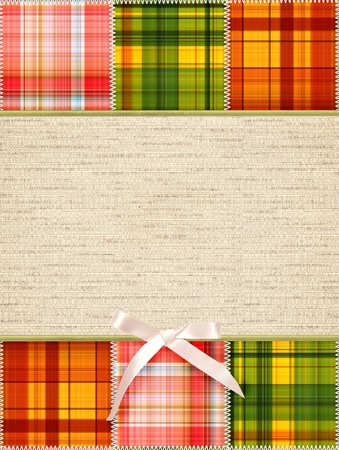 patchwork quilt: Background with tailored slices of a fabric in style patchwork