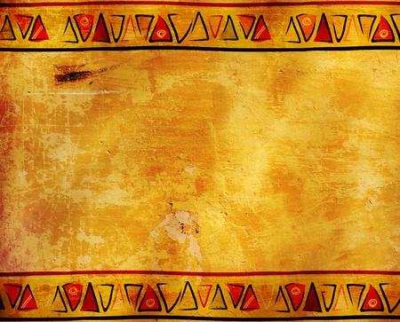 aborigen: Grunge fondo con los patrones tradicionales de �frica