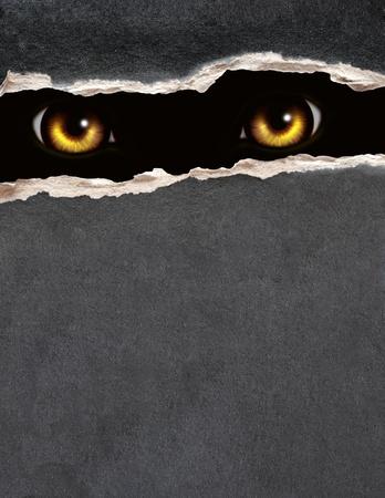 loup garou: Série Dark - un coup d'oeil de l'obscurité Banque d'images