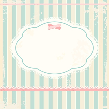 retro lace:  background in shabby chic style  Illustration