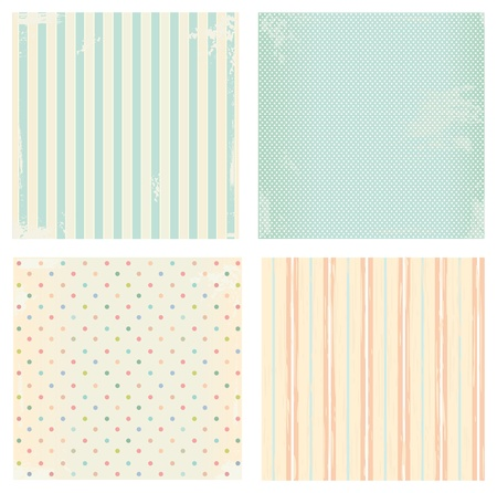 Collection of  backgrounds in retro style Vector