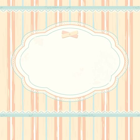shabby chic: Vector background in shabby chic style