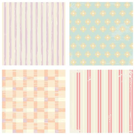 Collection of vector backgrounds in retro style Stock Vector - 13732622